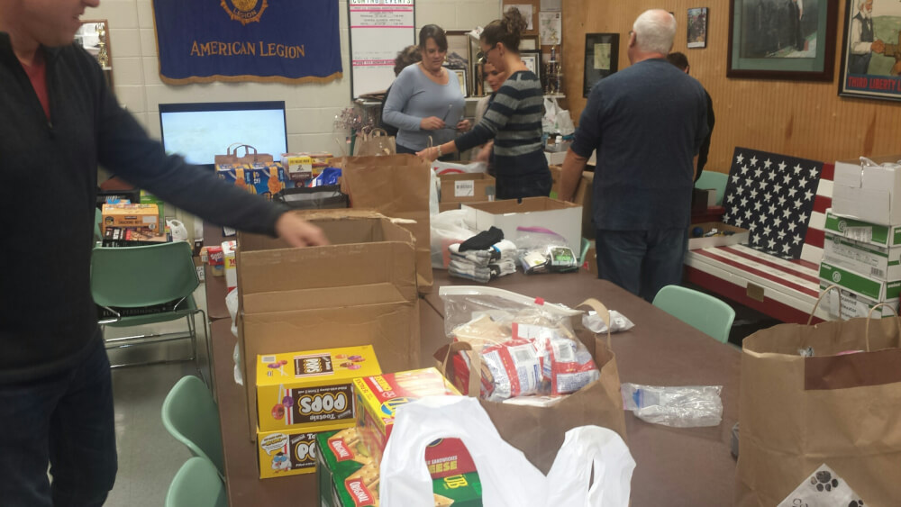 Orland Veterans host care package collection