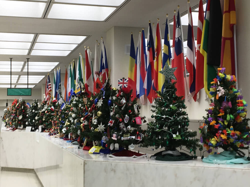 Pappas displays Christmas trees from around the world