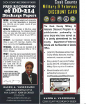 Veterans services available through the offices of the Cook County Recorder of Deeds