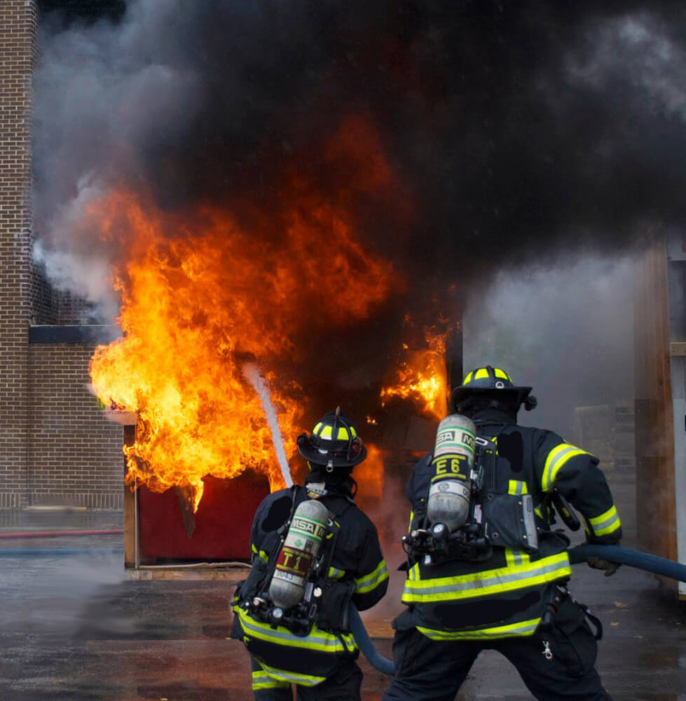 Orland Firefighters battle blaze at Open House event
