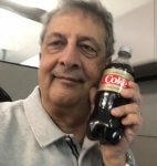 Author Ray Hanania with the love of his life, a bottle of soda pop
