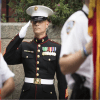 US Marine Saluting. Photo courtesy of Jerry Field