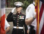 US Marine Saluting. Photo courtesy of Jerry Field