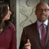 WGN TV's moderators Tahman Bradley and Lourdes Duarte