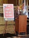 Protestors block 30 cent gasoline tax hike