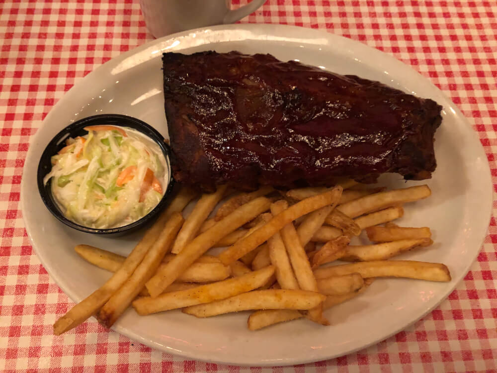 Half slab of ribs at Gelsosomo's Pizzeria in Lemont . Photo courtesy of Ray Hanania