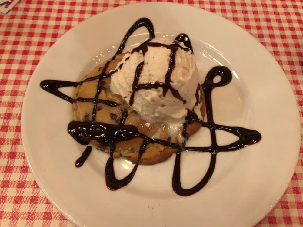 Ice cream dessert at Gelsosomo's Pizzeria in Lemont . Photo courtesy of Ray Hanania