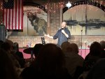 Comedian Ken Garr at the New Year's Eve show at Gelsosomo's Pizzeria in Lemont. Photo courtesy of Ray Hanania