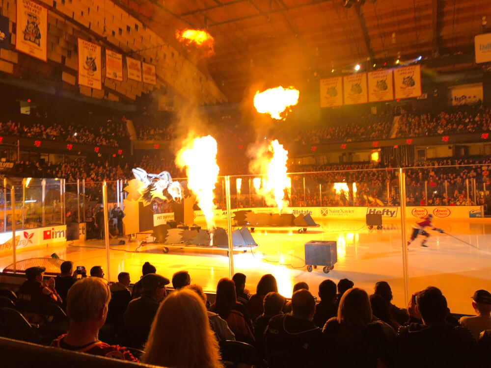 Wolves Hockey Team lights up the ice