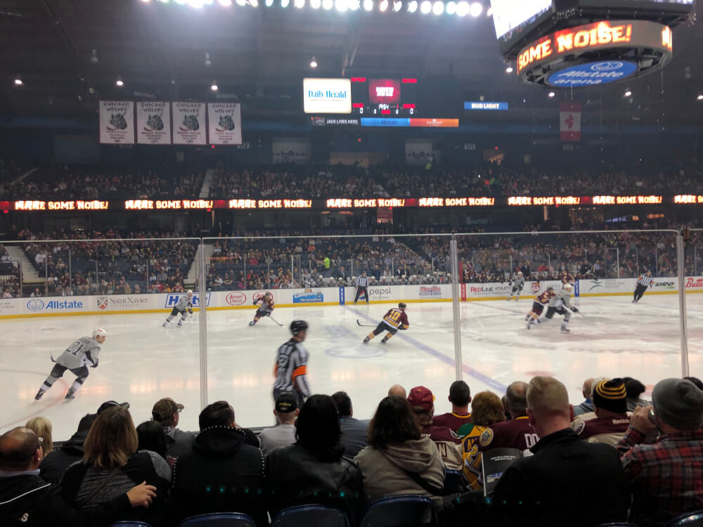 Wolves hockey game at Allstate Arena. Photo courtesy of Ray Hanania