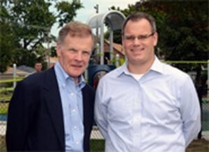 13th Ward Democratic Committeeman Michael J. Madigan and 13th Ward And. Marty Quinn. Photo courtesy of Madigan-Quinn website