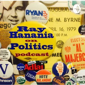 Ray Hanania on Politics podcast logo