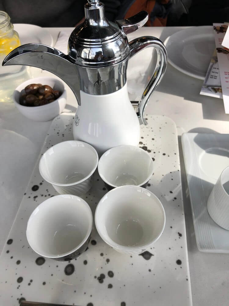 Tea serving for four guests