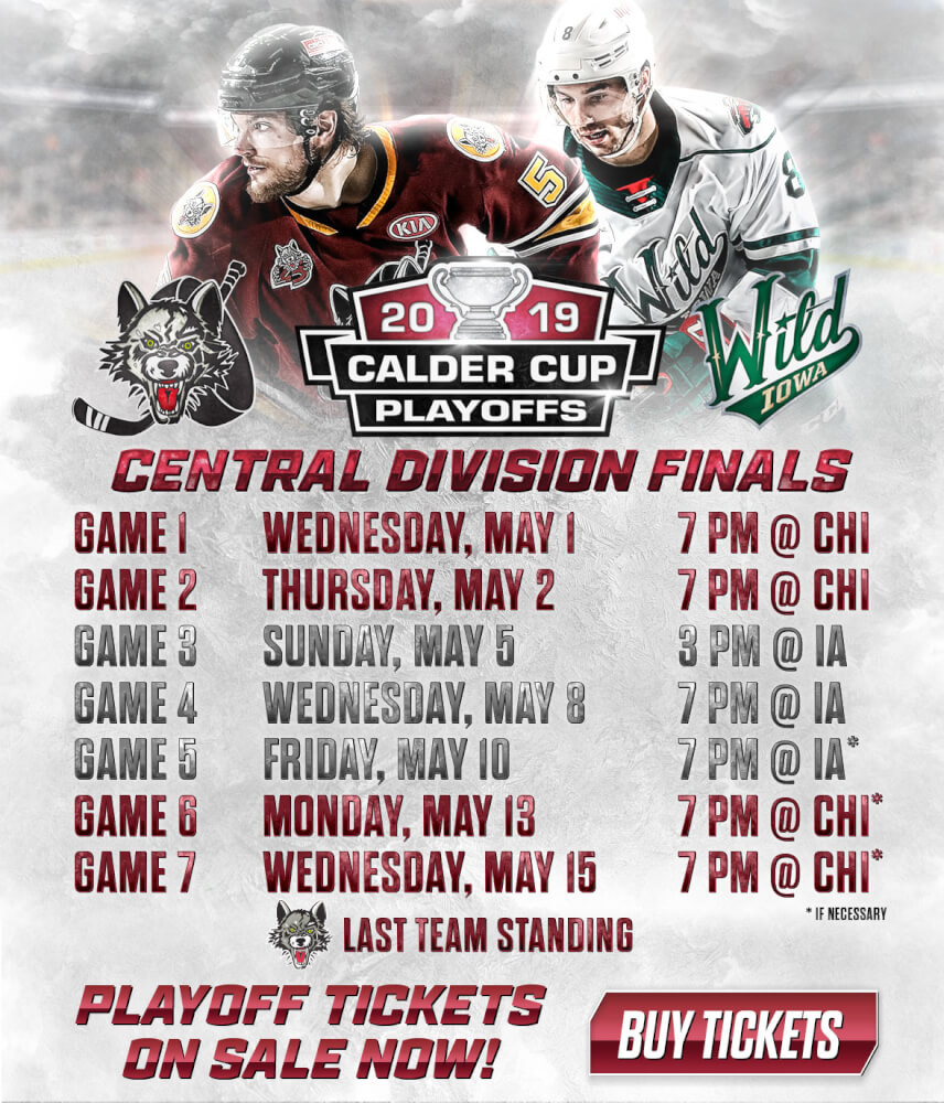 Chicago Wolves face Iowa Wild in second-round finals