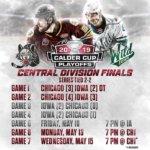 Chicago Wolves-Iowa Wild Playoff Game schedule 2019