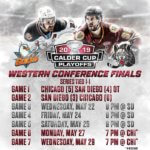 Chicago Wolves and San Diego Gulls playoff schedule for Western Conference FInals