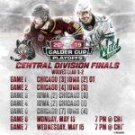 Chicago Wolves, Playoffs, Iowa Wild, Hockey, Central Division Finals