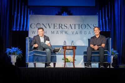 Mark Cuban addresses Judson University in Elgin, May 16, 2019. Photo courtesy of Judson University