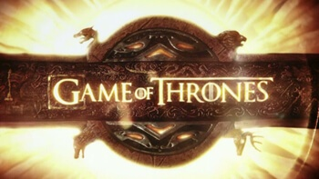 The HBO mega series Game of Thrones logo