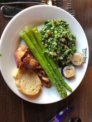 Salad selection from Texas de Brazil