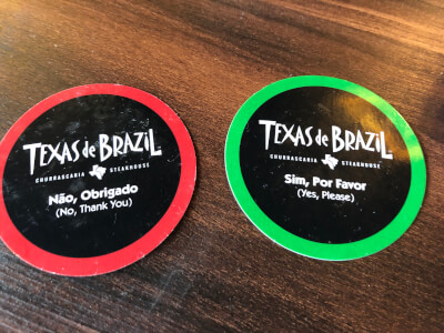 Coasters for Texas de Brazil