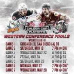 Chicago Wolves versus San Diego Gulls Western Conference schedule