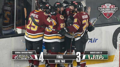 Wolves take hockey series lead in play-offs