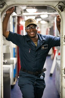 Seaman Clarkensy Smith, a native of Chicago, joined the Navy to travel and see the world. Photo by Senior Chief Petty Officer Gary Ward