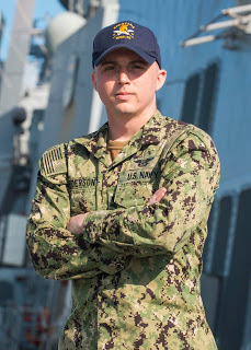 Petty Officer 2nd Class Thomas Anderson, a native of Burbank, Illinois. Photo by Mass Communication Specialist 1st Class Rusty Pang
