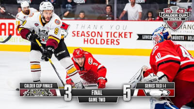 Charlotte Checkers beat Chicago Wolves in Game 2 of Calder Cup championship