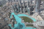 View of the waterway and shopping plaza at the foot of the Burj Khalifa. Photo courtesy Ray Hanania