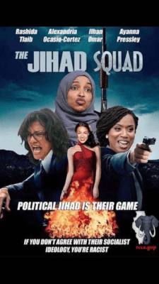 IRCCA Jihad Squad racist facebook image posted by the Illinois Republican County Chairman's Association