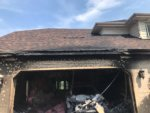 Garage damaged by fire in Orland Park. Photo courtesy of the Orland Fire Protection District