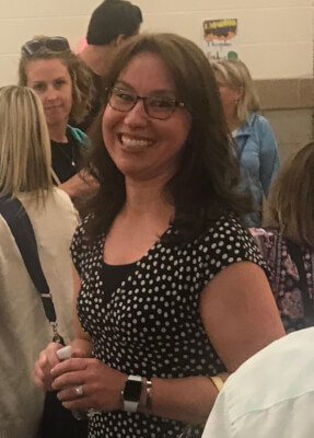 Theresa Silva is all smiles after she was re-hired, after a year away, to be principal of Lincoln School in Brookfield. (Photo by Steve Metsch)