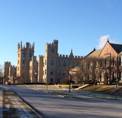 Altgeld Hall, and Still Hall, at Northern Illinois University. Photo courtesy of Wikipedia