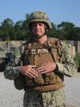 Commander Michael Meno, a 1991 Carl Sandburg High School graduate and native of Orland Park, Illinois. U.S. Navy photo by Mass Communication Specialist 2nd Class Bradley Gee