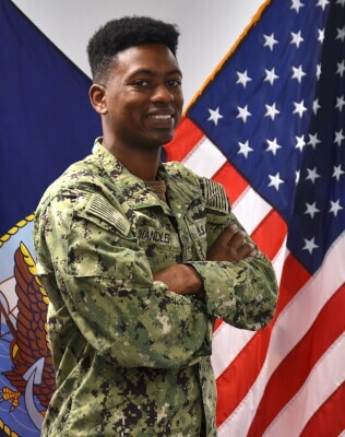 Petty Officer 2nd Class Michael Chandler, a native of Chicago. U.S. Navy photo by Mass Communication Specialist 1st Class Jesse Hawthorne