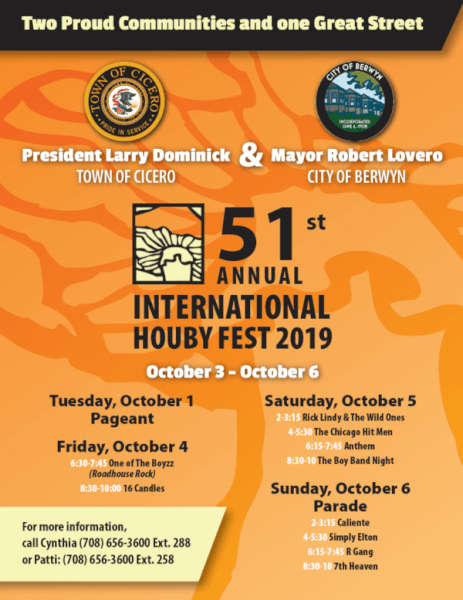 Cicero hosts Houby Festival Oct 3 – 6, 2019