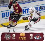 Rockford IceHogs beat Chicago Wolves Oct. 10, 2019 by a 3-2 score