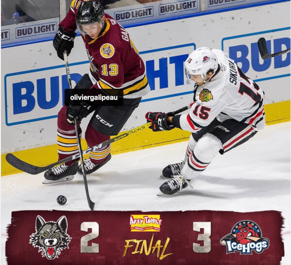 Rockford IceHogs stop Chicago Wolves in Friday Hockey competition