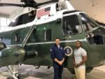 """Lyons Mayor Getty given tour of President's helicopter, """"Marine One"""""""