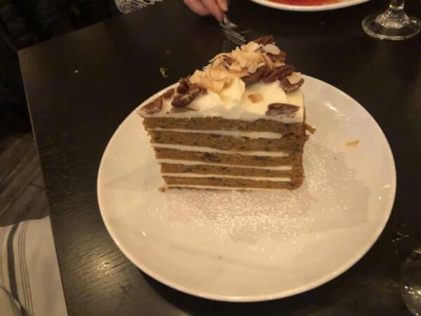 Carrot cake. 94 West Restaurant, 15410 94th Avenue Orland Park. Photo courtesy fo Ray Hanania