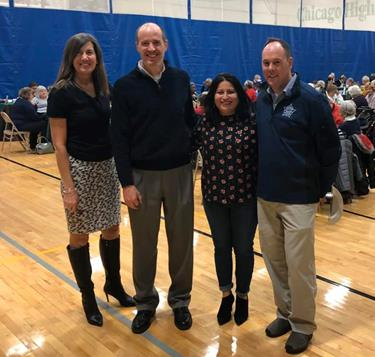 State Rep. Fran Hurley, D-Chicago, recently partnered with Sen. Bill Cunningham and Ald. Matt O'Shea to host a New Year's Eve at noon pizza party to give local seniors an opportunity to gather and celebrate New Year's Eve safely.