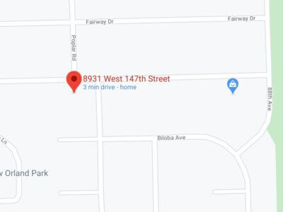 Map of 147th Street and Poplar Road in Orland Park