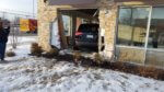 SUV crashes into side of Dunkin Donuts Friday, 4:30 PM Feb. 7, 2020. Photo courtesy of the Orland Fire Protection District