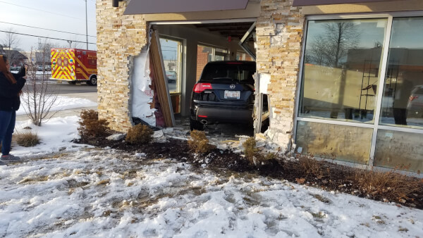 Two accidents involving vehicles crashing into Orland Park buildings