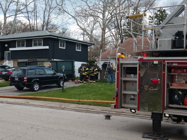 Fire at home under renovation 147th and Holly Court. Photo courtesy of the Orland Fire Protection District