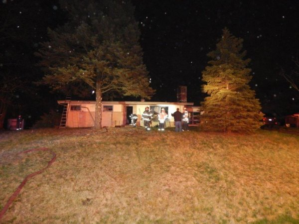 Easter Sunday April 12, 2020 house fire in the 13600 block of Howe Drive in Orland Park. Photo courtesy of the Orland Fire Protection District