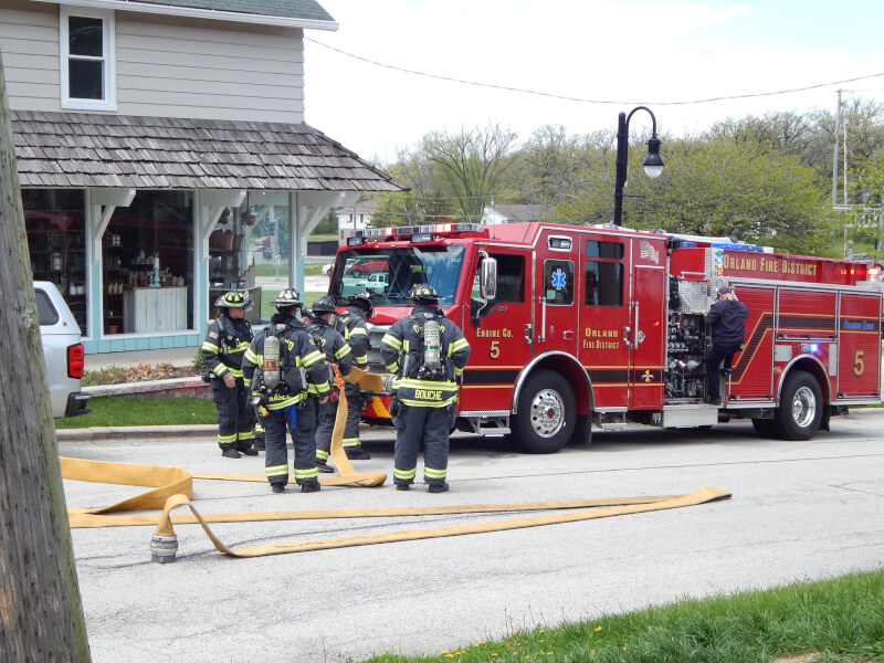Orland home fire on Beacon Tuesday, May 12th