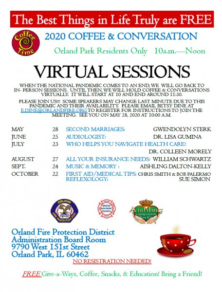 Coffee & Conversation Orland Fire Protection District May through October 2020